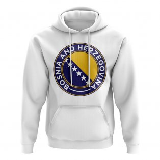 Bosnia and Herzegovina Football Badge Hoodie (White)