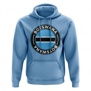 Botswana Football Badge Hoodie (Sky)
