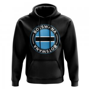 Botswana Football Badge Hoodie (Black)