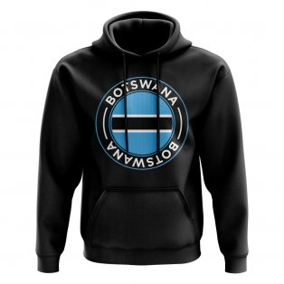 Botswana Football Badge Hoodie (Black)