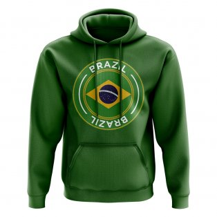 Brazil Football Badge Hoodie (Green)