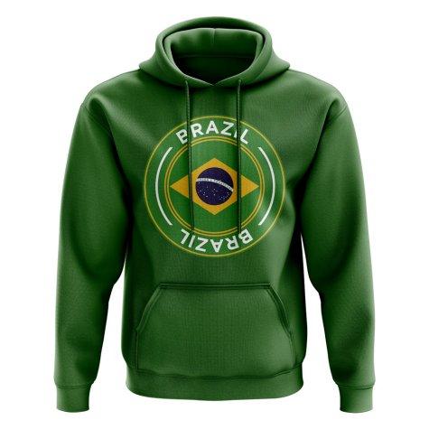Brazil Football Badge Hoodie (Green)