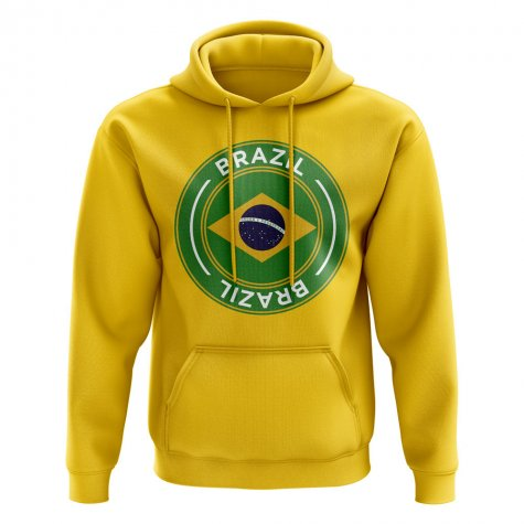 Brazil Football Badge Hoodie (Yellow)