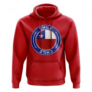 Chile Football Badge Hoodie (Red)