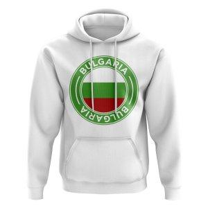 Bulgaria Football Badge Hoodie (White)