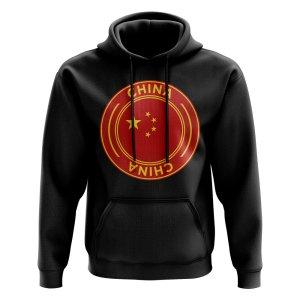 China Football Badge Hoodie (Black)