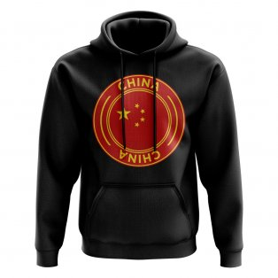 China Football Badge Hoodie (Black)