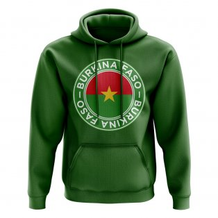 Burkina Faso Football Badge Hoodie (Green)