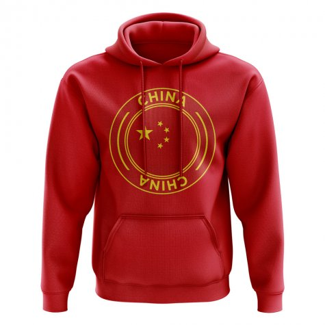 China Football Badge Hoodie (Red)