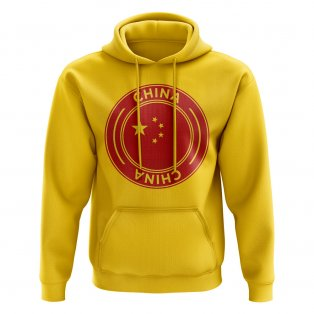 China Football Badge Hoodie (Yellow)