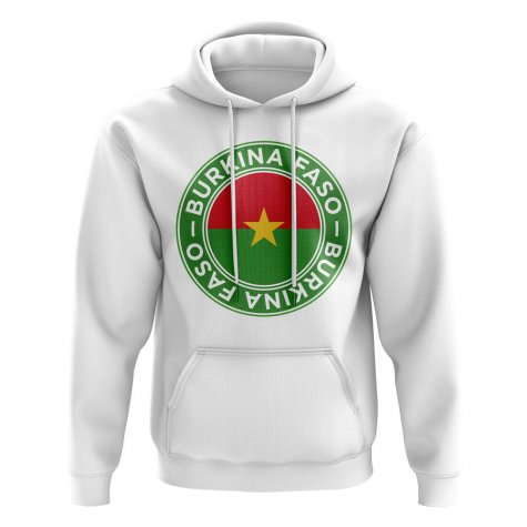 Burkina Faso Football Badge Hoodie (White)