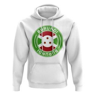 Burundi Football Badge Hoodie (White)