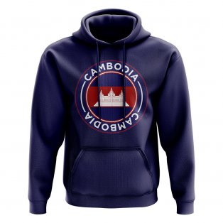 Cambodia Football Badge Hoodie (Navy)