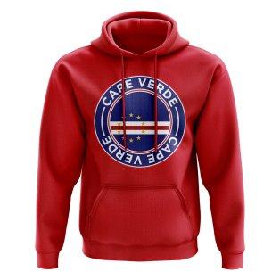 Cape Verde Football Badge Hoodie (Red)
