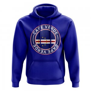 Cape Verde Football Badge Hoodie (Royal)