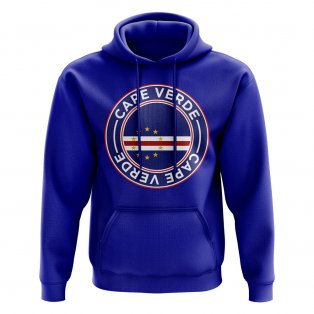 Cape Verde Football Badge Hoodie (Royal)
