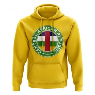 Central African Republic Football Badge Hoodie (Yellow)