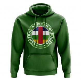 Central African Republic Football Badge Hoodie (Green)