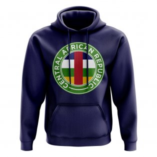 Central African Republic Football Badge Hoodie (Navy)