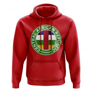 Central African Republic Football Badge Hoodie (Red)