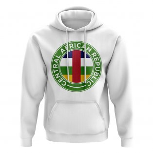 Central African Republic Football Badge Hoodie (White)