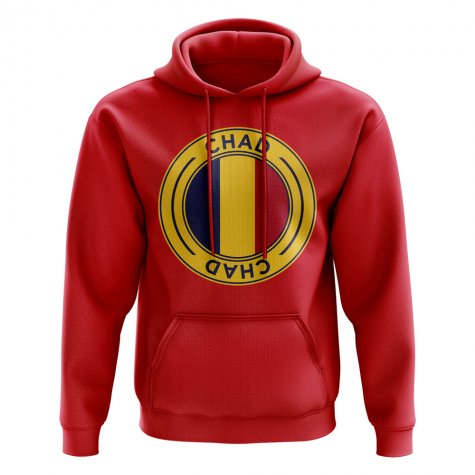 Chad Football Badge Hoodie (Red)