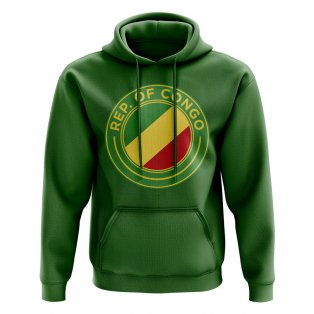 Congo Republic Football Badge Hoodie (Green)