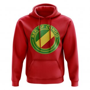 Congo Republic Football Badge Hoodie (Red)