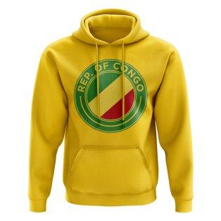 Congo Republic Football Badge Hoodie (Yellow)