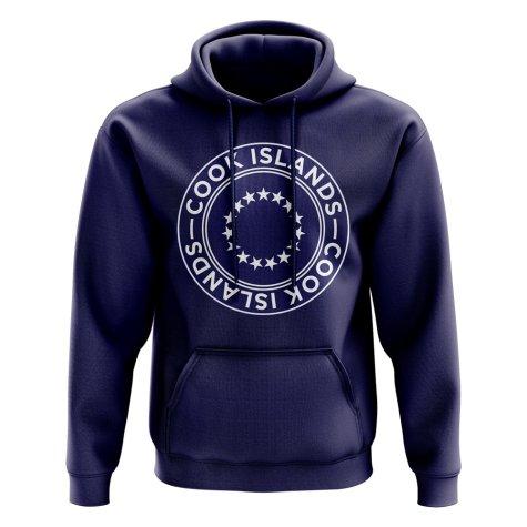 Cook Islands Football Badge Hoodie (Navy)