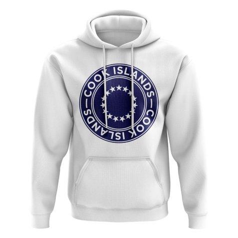 Cook Islands Football Badge Hoodie (White)