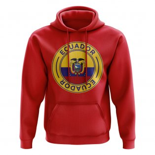 Ecuador Football Badge Hoodie (Red)