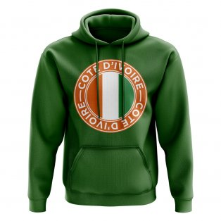 Côte d'Ivoire Football Badge Hoodie (Green)