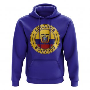 Ecuador Football Badge Hoodie (Royal)