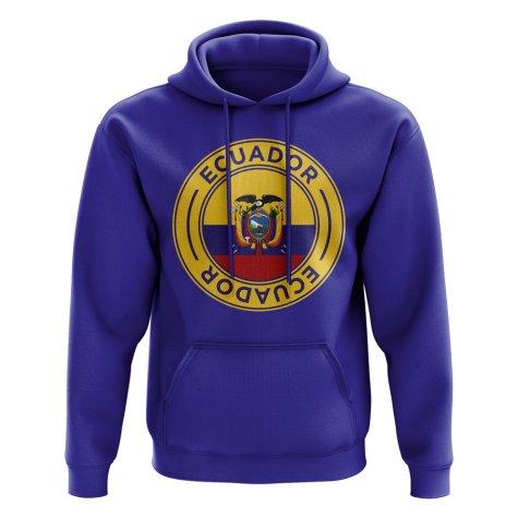 Ecuador Football Badge Hoodie (Royal)