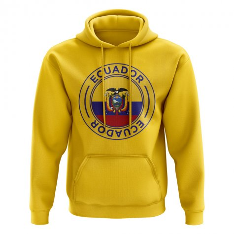 Ecuador Football Badge Hoodie (Yellow)