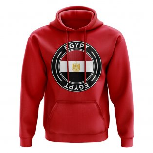 Egypt Football Badge Hoodie (Red)