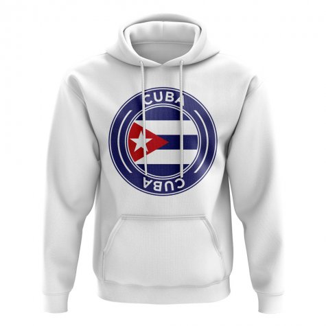 Cuba Football Badge Hoodie (White)