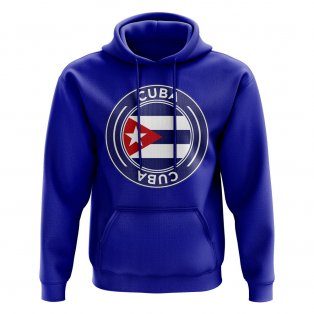 Cuba Football Badge Hoodie (Royal)