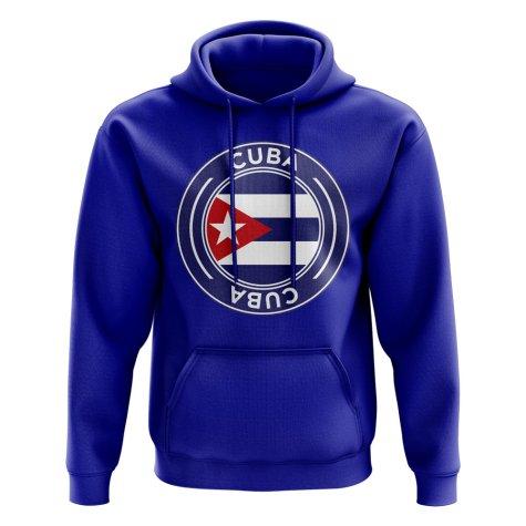 Cuba Football Badge Hoodie (Royal)