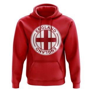 England Football Badge Hoodie (Red)