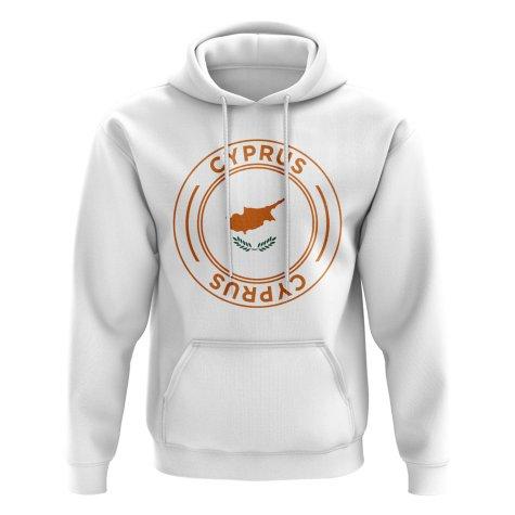Cyprus Football Badge Hoodie (White)