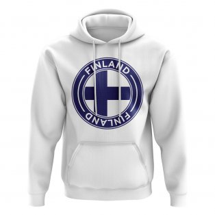 Finland Football Badge Hoodie (White)