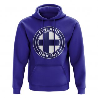 Finland Football Badge Hoodie (Royal)