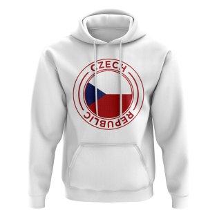 Czech Republic Football Badge Hoodie (White)