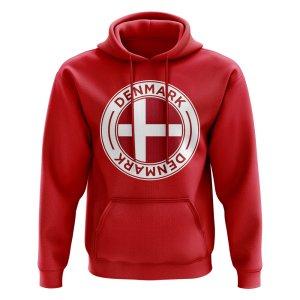 Denmark Football Badge Hoodie (Red)