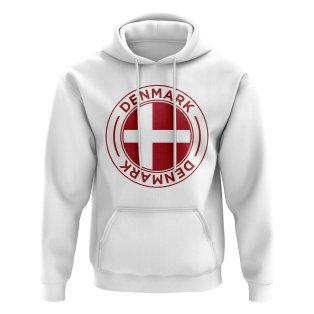 Denmark Football Badge Hoodie (White)