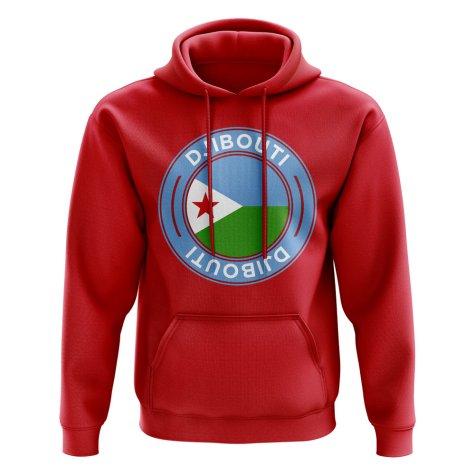Djibouti Football Badge Hoodie (Red)