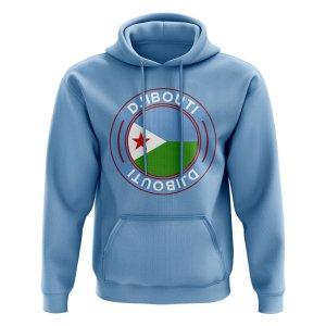 Djibouti Football Badge Hoodie (Sky)