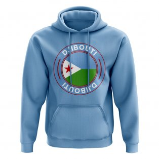 Djibouti Football Badge Hoodie (Sky)